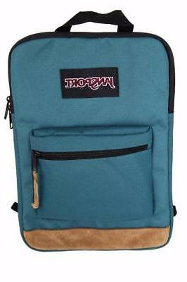 New JanSport Right Tablet Laptop Backpack Sleeve Teal Purple Blue