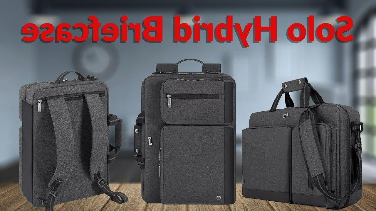 new urban hybrid laptop briefcase backpack gray