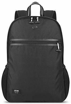 Solo New York Varsity Line Backpack, Black, Fits 15.6 Laptop
