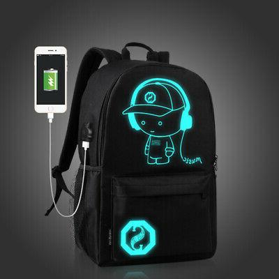 Night Luminous Anti-Theft Laptop Bag School Bags