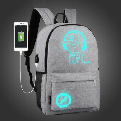Night Luminous Anti-Theft Laptop Bag School Bags With USB