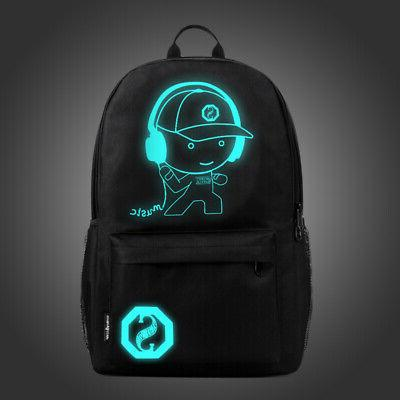 Night Luminous Laptop Bag School Bags With USB