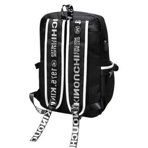 Night Luminous Backpack Anti-Theft Laptop Shoulder Bags USB
