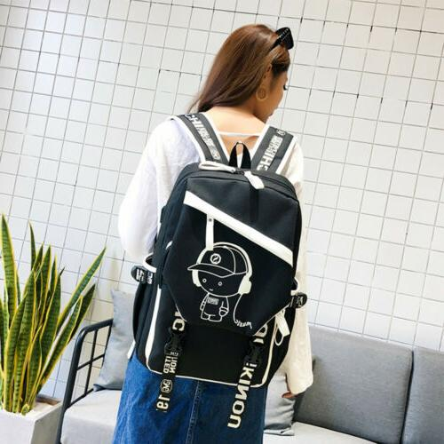 Night Backpack Laptop Bag Bags With Port