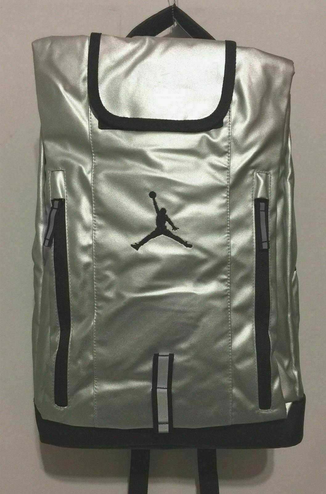 Nike Jordan Logo School Laptop SILVER Black 9A1640-250 NEW