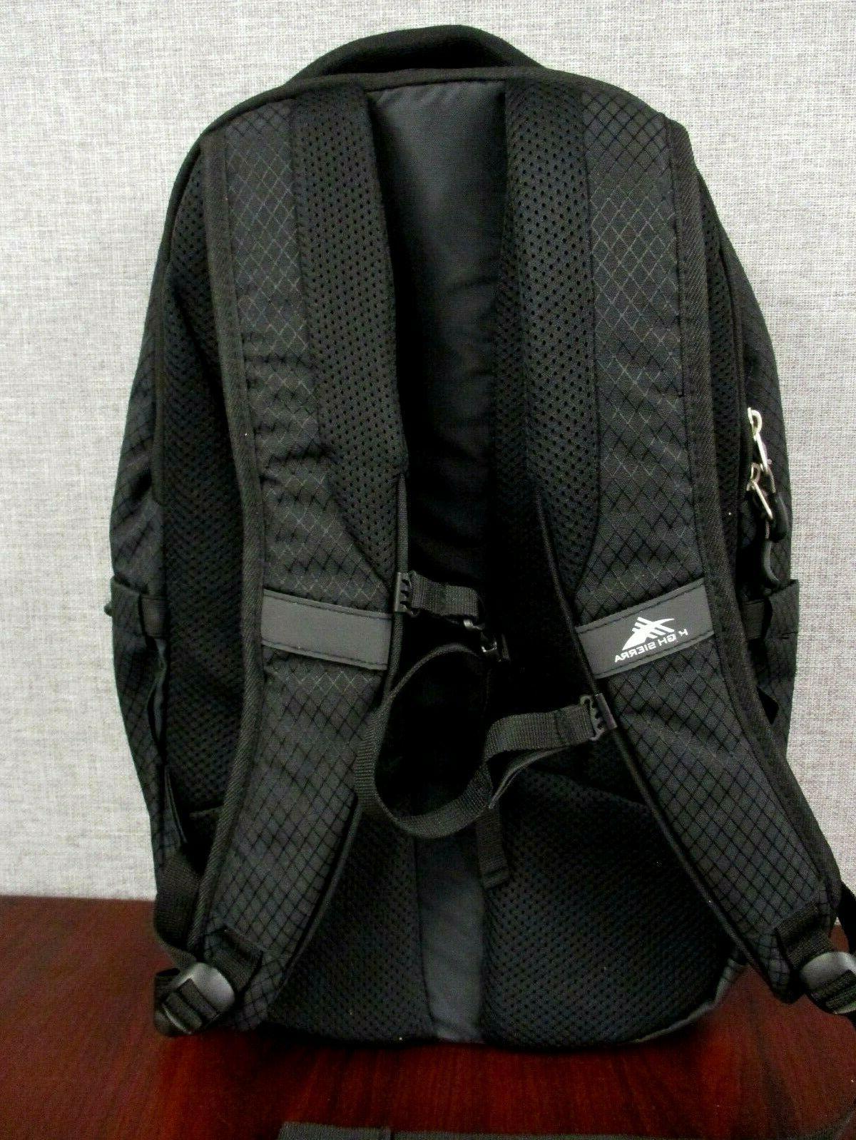 "NWOT High Sierra Everyday Backpack Black - 15"" - Light weight"