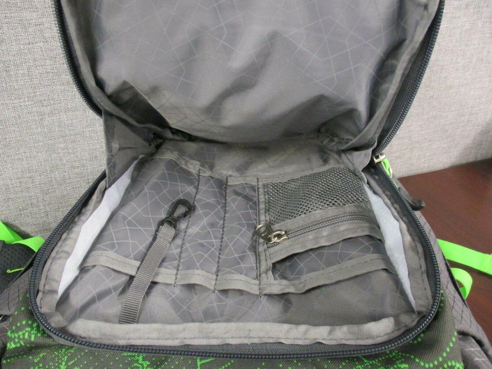 """NWOT Everyday Backpack Gray/ Lime 15"""""""