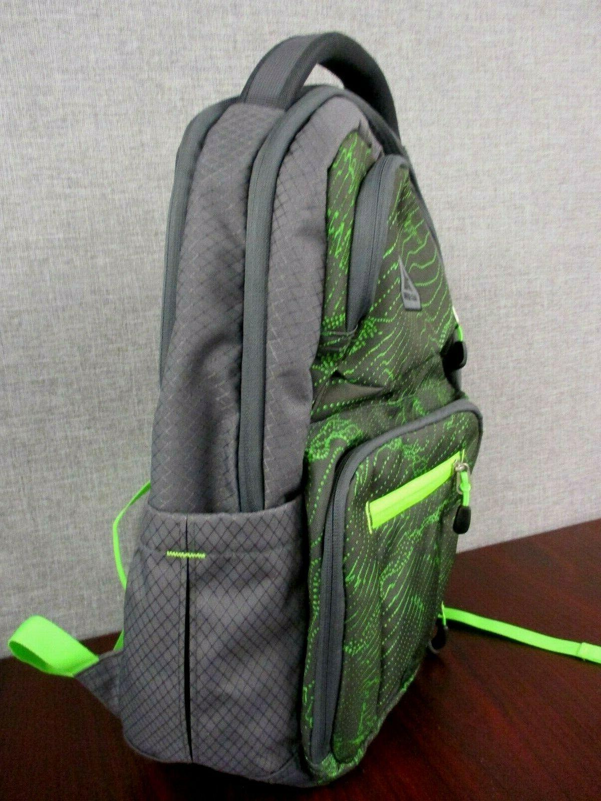 NWOT Everyday Backpack Gray/ Lime