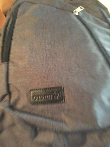 nwt new backpack laptop usb charging port