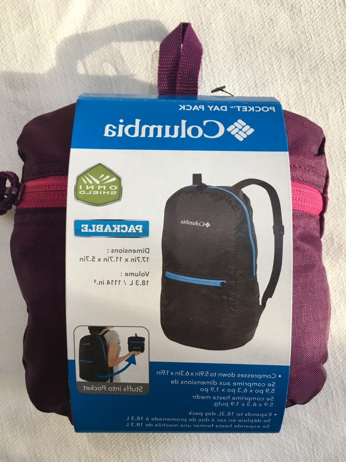 nwt pocket daypack backpack purple and pink