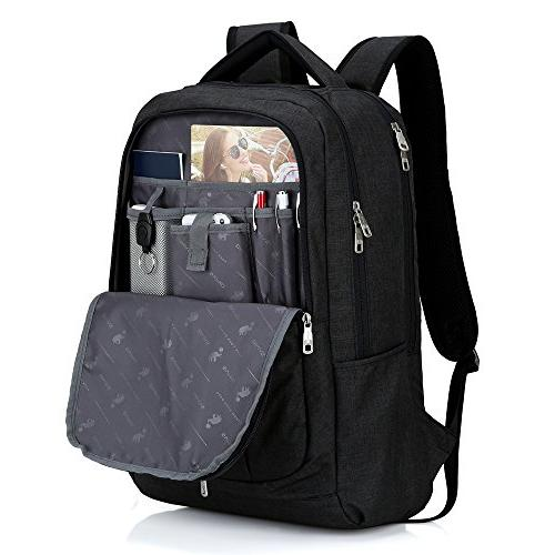 Oiwas with Mult-compartment for Inch Laptop Notebook Black