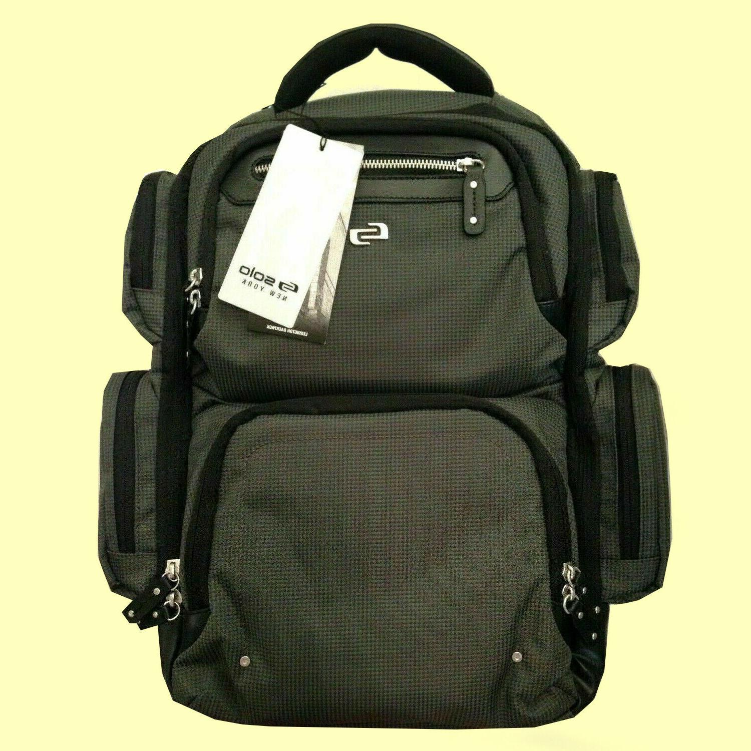 official gramercy collection laptop backpack gray