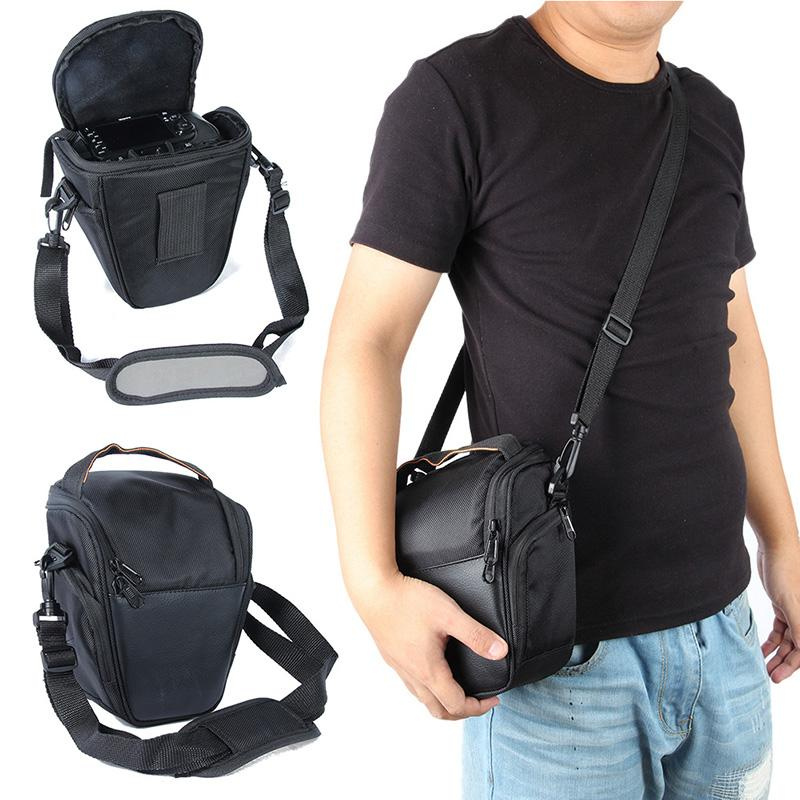 Portable Adjustable Black Nylon Waterproof <font><b>Camera</b></font> <font><b>Bag</b></font> D5200 With