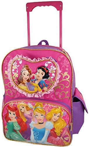 princess rolling backpack