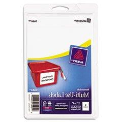 Print or Write Removable Multi-Use Labels, 2 x 4, White, 100