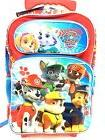 "New Paw Patrol 16"" Red Canvas Allover Print Rolling School B"