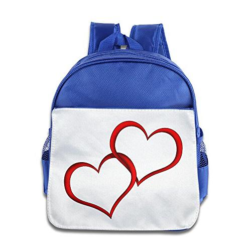 red hearts exercising canvas bag