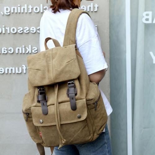Retro Backpack Travel Hiking School Laptop Bag
