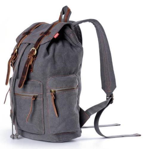 Retro Canvas Men School Travel Casual Bag Backpack