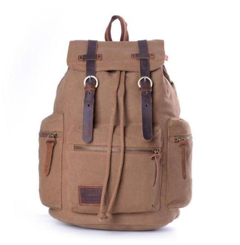 Retro Men School Bag Laptop