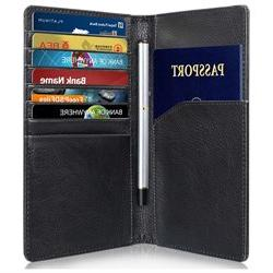 GreatShield RFID Blocking Leather 10 Slot Passport Card Hold