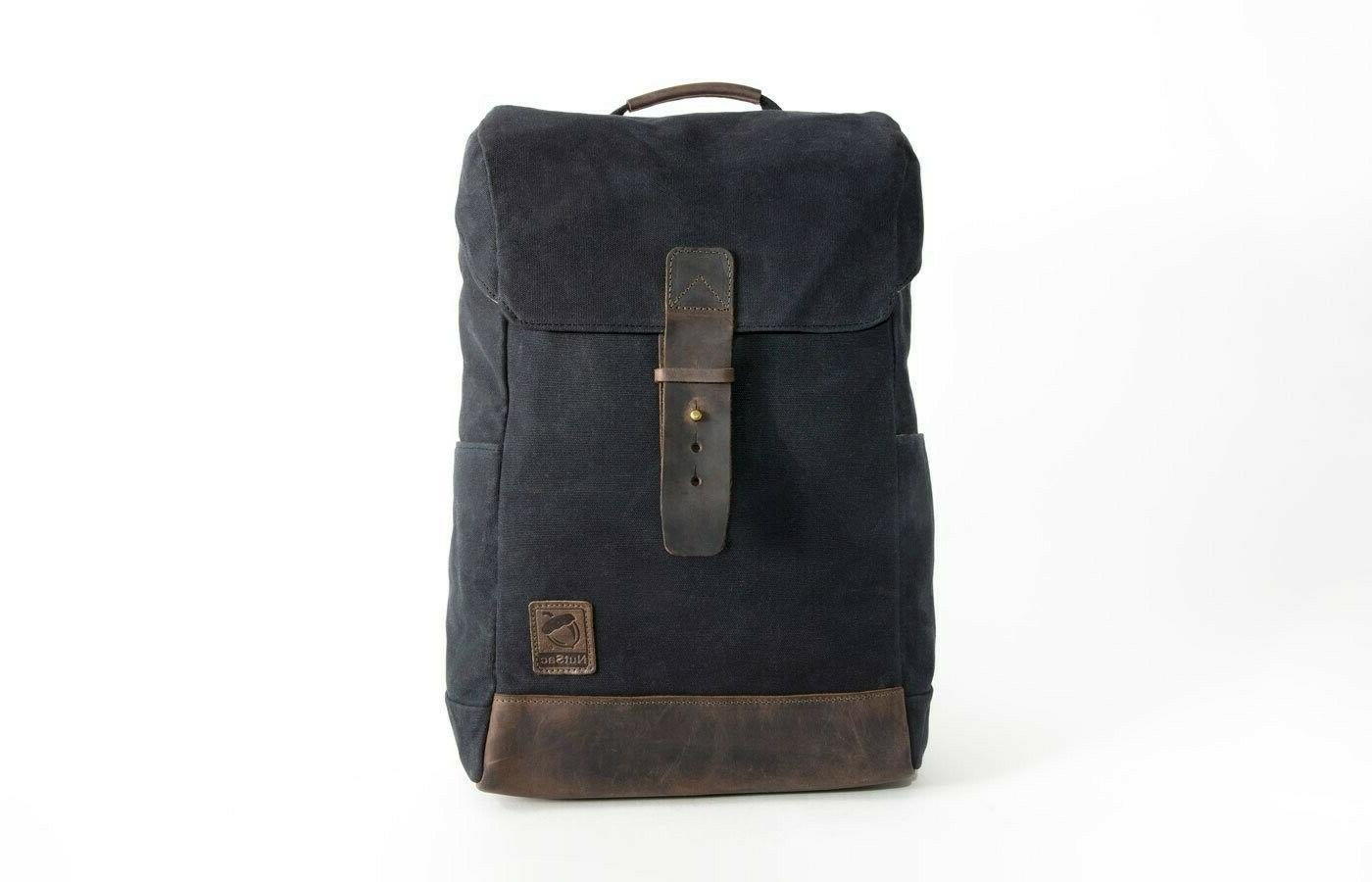rucksac leather waxed canvas backpack w 15
