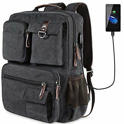 school backpack vintage canvas laptop