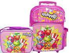 "Shopkins Large School Roller 16"" Large Backpack Lunch Bag 2p"