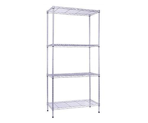 silver heavy duty shelf storage