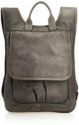 slim laptop flap backpack charcoal