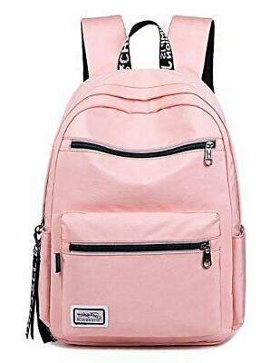 solid color laptop backpack college school bag