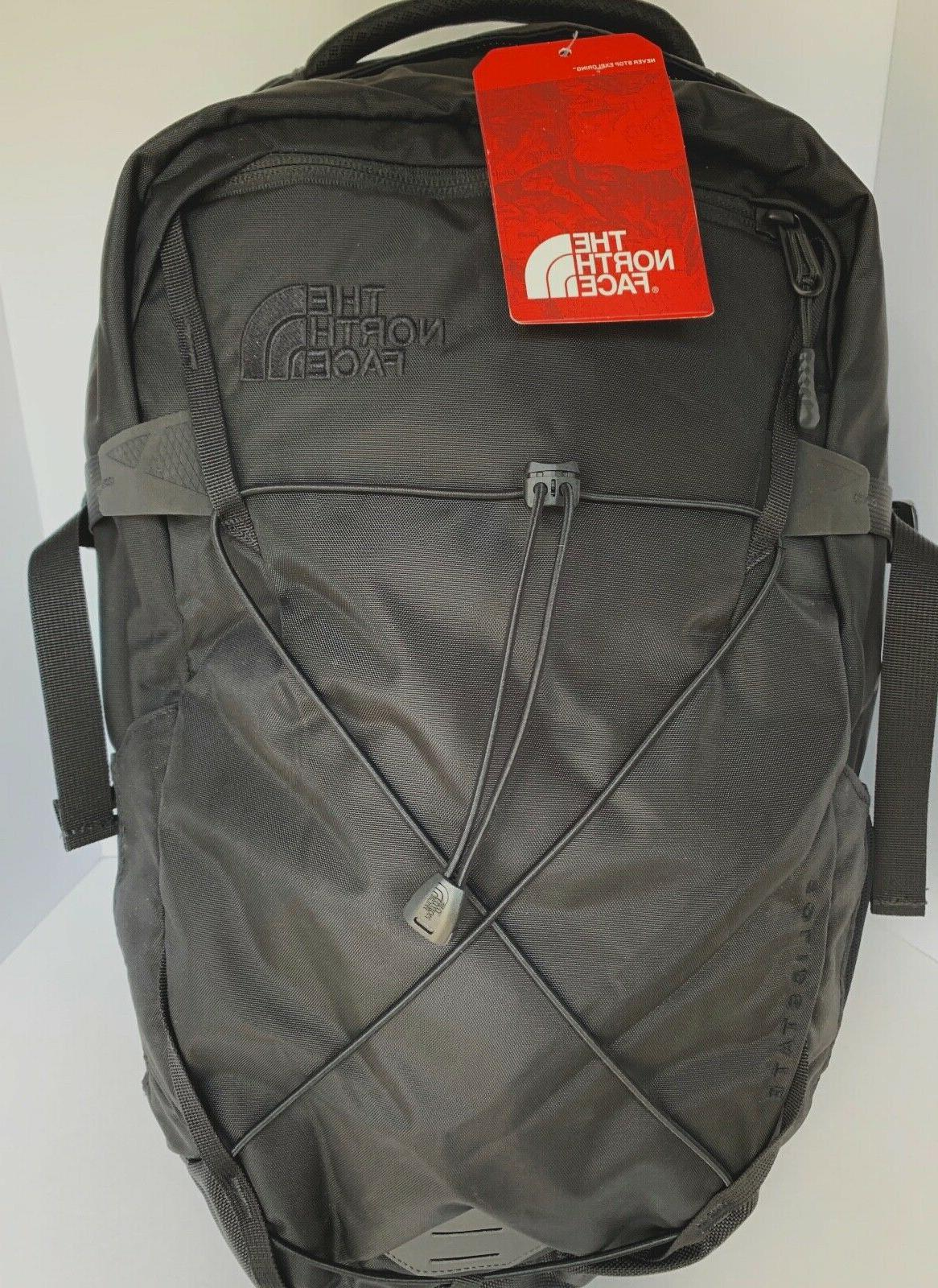 solid state black laptop backpack tnf water