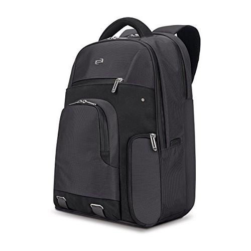 """Solo Stealth 15.6"""" Laptop Backpack, Gray, One Size"""