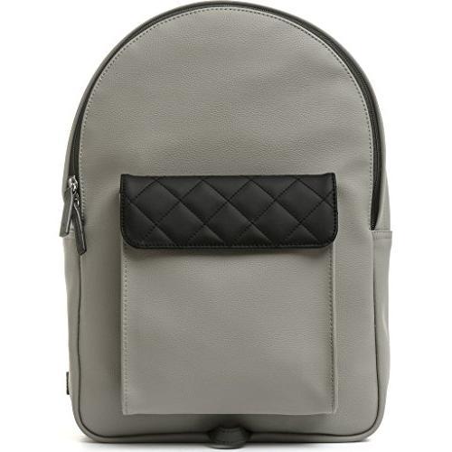 strada mini leather backpack gray