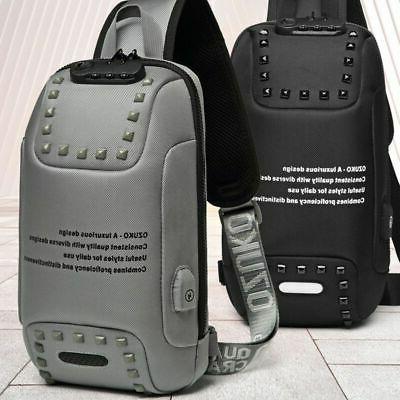 Stylish Lock Backpack Laptop Waterproof