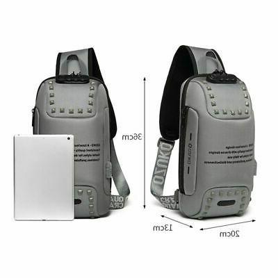 Stylish Lock Backpack Waterproof