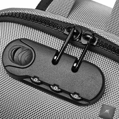 Stylish Oxford Men Lock Laptop Bag Waterproof USB Charging