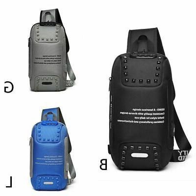 stylish oxford men anti theft lock backpack