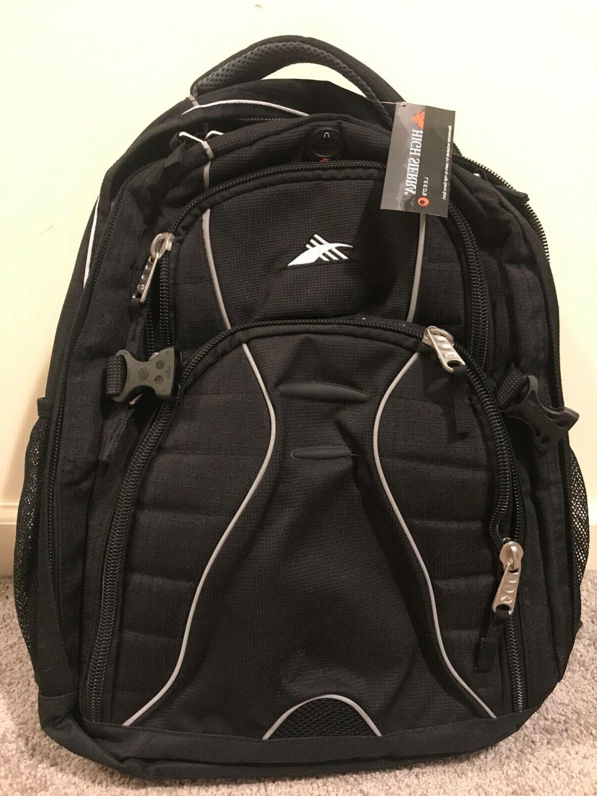 swerve 17 in laptop backpack black