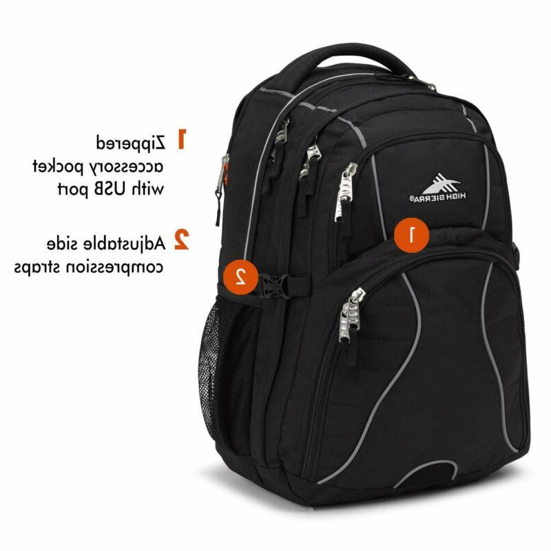 High Sierra Swerve Backpack, 17-inch Laptop for High C