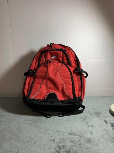 "High Sierra Backpack 17"" Or College Backpack CRIMSON/BLACK"