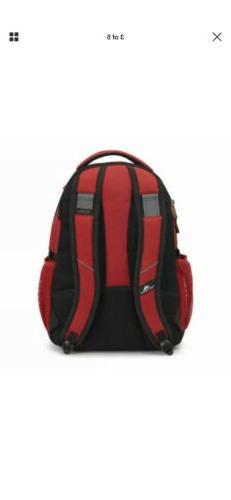 "High Sierra Laptop Backpack 17"" College CRIMSON/BLACK"
