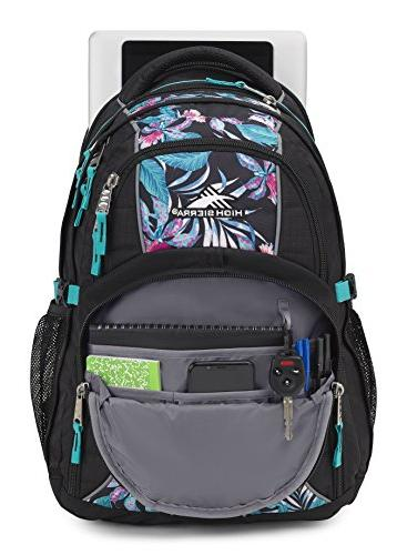 High Backpack, Black/Tropic Nights/Turquoise