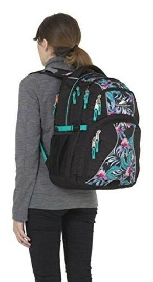 High Backpack for Women Black/Tropic Nights/Turquoise