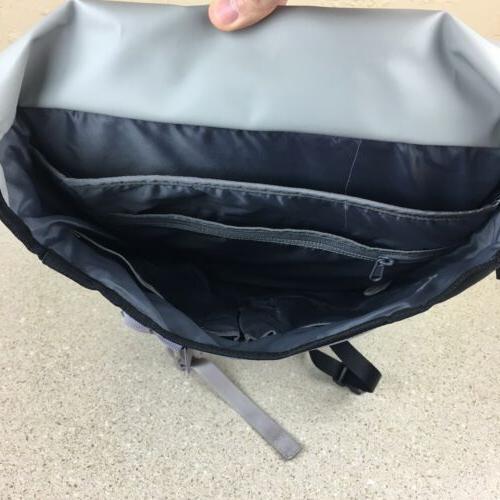 Timbuk2 Swig Backpack Black Gray Flap Closure Laptop New