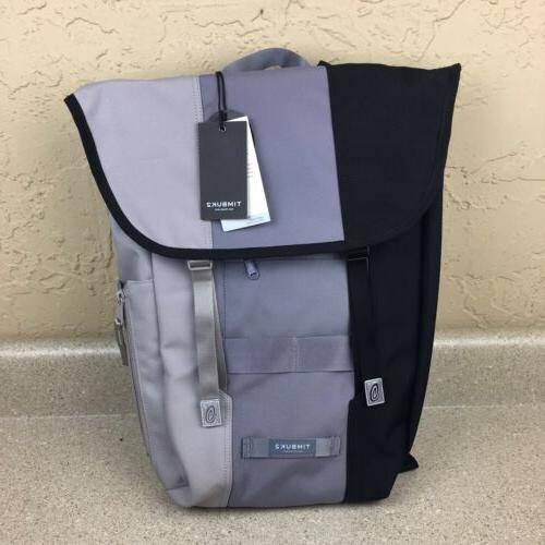 swig backpack black gray flap closure 15