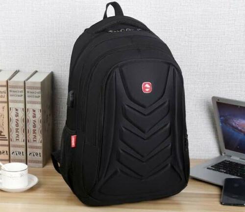 "Swiss 15.6"" Backpack Charge Port Travel School Bag"