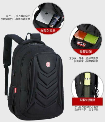 "Swiss Protect 15.6"" Charge Port Travel School Bag"