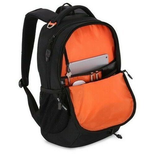 Swiss Travel Laptop Book School Bag Black Camo New