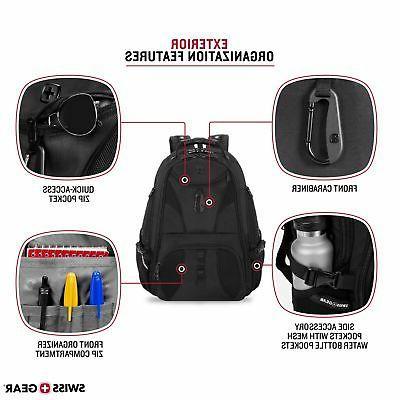 """SWISSGEAR Travel Gear Scansmart Laptop Backpack Black/Black 19"""""""